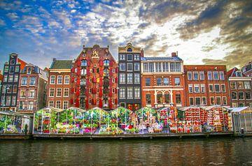 Bloemenmarkt Amsterdam 2014 van Omri Raviv
