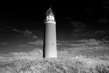 Leuchtturm, niederländische Küste (Schwarz-Weiß) von Rob Blok