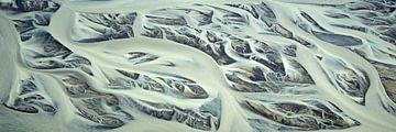 Rivierdelta Texturen van IJsland #12 van Keith Wilson Photography