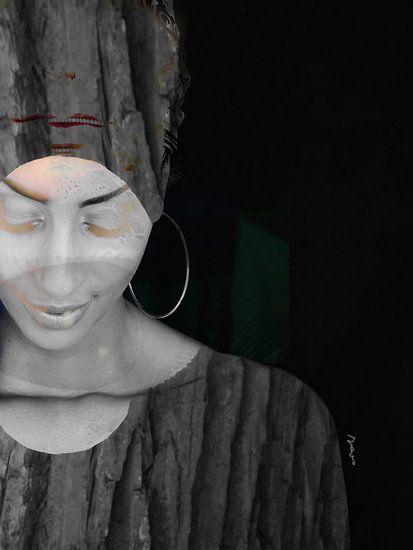 34. Vrouw, silhouet, portret,  Bloom.