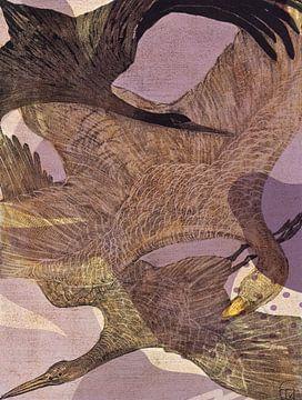 Drei Vögel am Himmel von Rudy & Gisela Schlechter