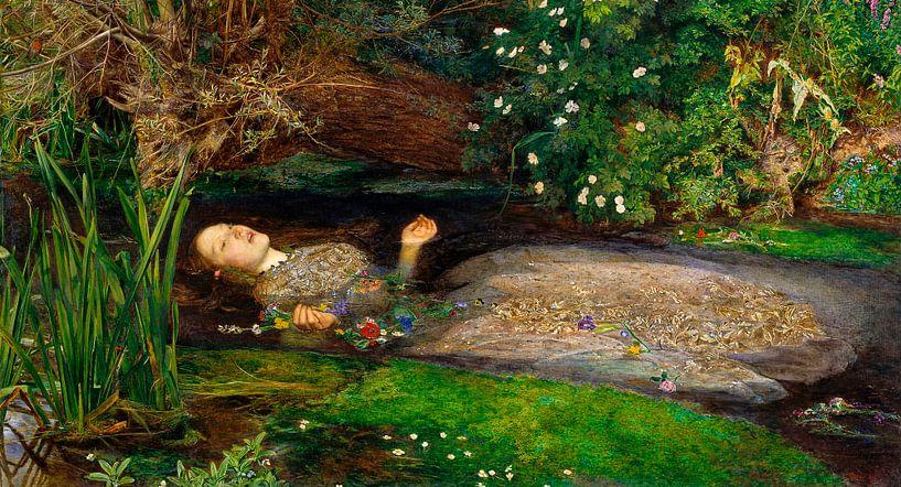 Ophelia, John Everett Millais sur Meesterlijcke Meesters