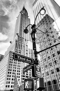 Chrysler Building, New York City (zwart-wit) van Sascha Kilmer
