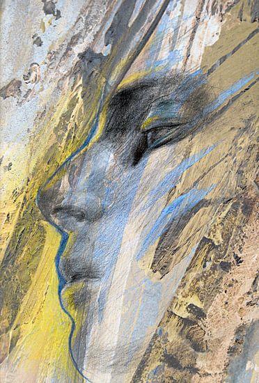 Face Forward: man in blauw en geel
