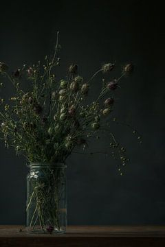 Stillleben eines Blumenstraußes der getrockneten Blumen- von Martzen Fotografie