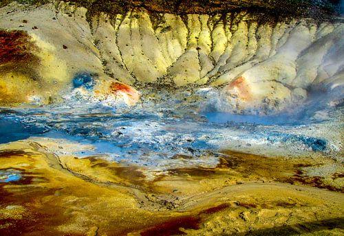 Warmwaterbron in het zuiden van IJsland