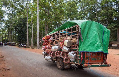 Transport over de weg, Cambodja