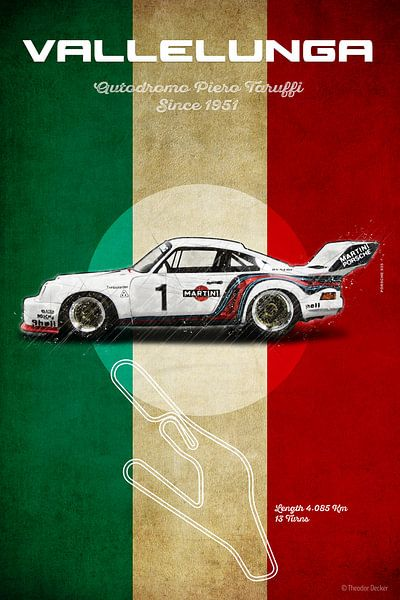 Vallelunga, Italy,  Racetrack Vintage von Theodor Decker