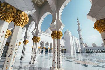 Moskee in Abu Dhabi van Tijmen Hobbel