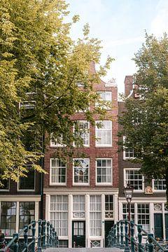 Herbst in Amsterdam, Brouwersgracht von Manon Galama