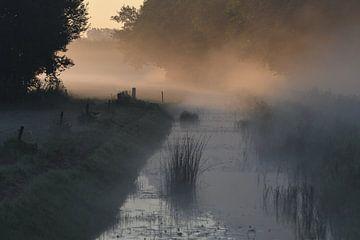Sonnenaufgang, Nebel und Wasser von Pauline Bergsma