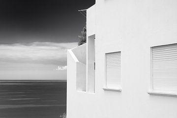 Ozean Ansicht weißes Haus von Jan Brons