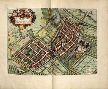 Culemborg, Stadsplattegrond Joan Blaeu 1652 van Atelier Liesjes