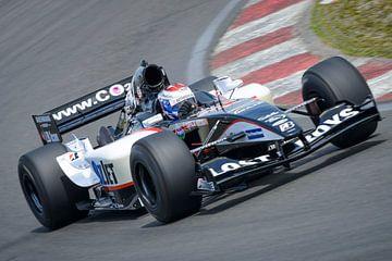 Jos Verstappen, pilote de Formule 1 Minardi, sur le circuit de Zandvoort