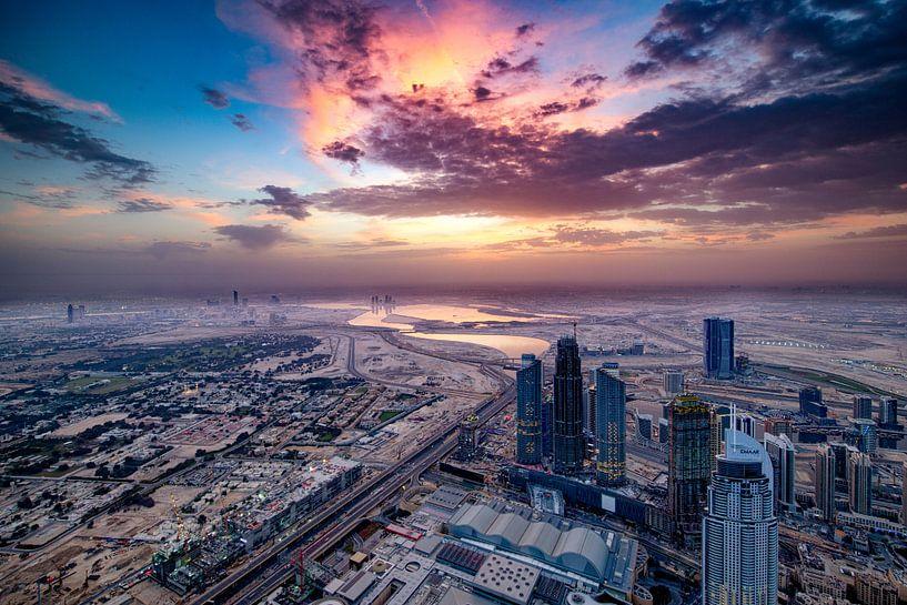 Dubai Sunrise van Rene Siebring