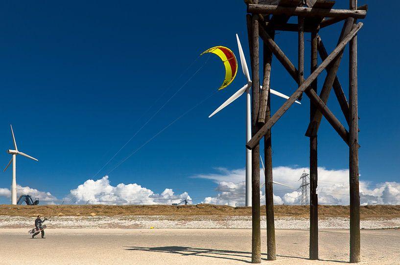 Kite surfer van Sonja Pixels