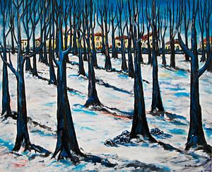 Winter im Park von