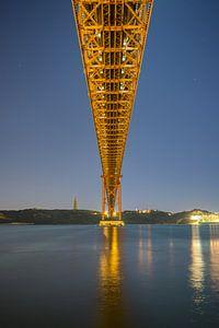 Ponte 25 de Abril, Lissabon van Niels Maljaars