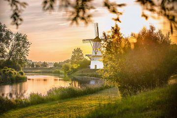 Mill The Butterfly bei Sonnenaufgang von Caroline van der Vecht