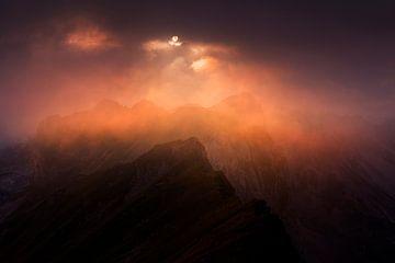 Alpen Sonnenuntergang von Frank Peters