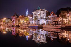Teylers Museum bij nacht van Harro Jansz