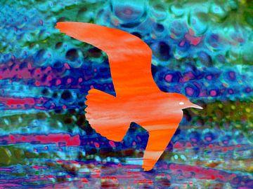 Vogel beim Abendrot van Peter Norden