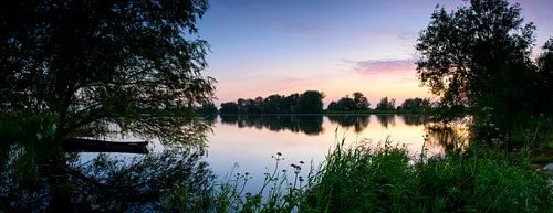 Sonnenuntergang über den IJssel