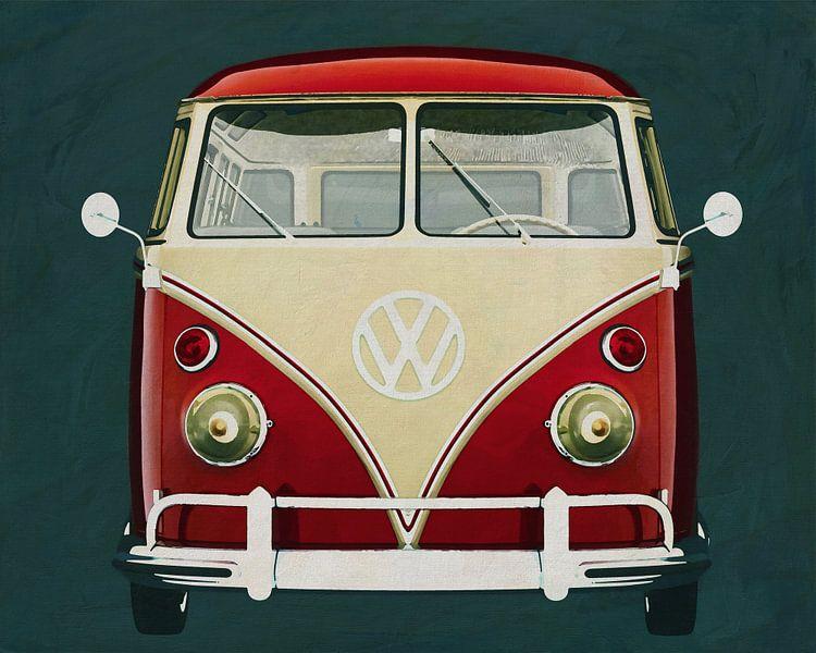 Volkswagen Combi Deluxe 1963 vooraanzicht van Jan Keteleer