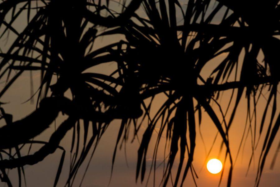 Zonsondergang op Bali Indonesië