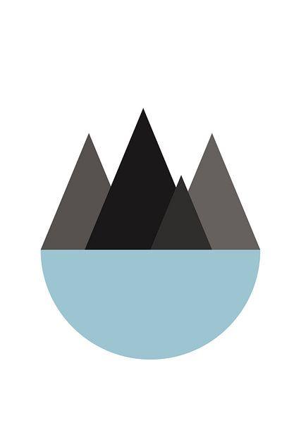 bergen en zee van Vera de Jong