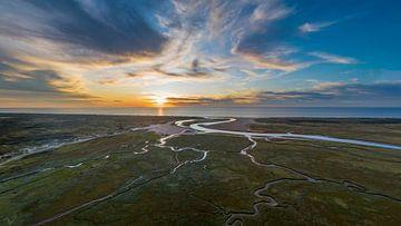De Slufter Texel Zonsondergang van Texel360Fotografie Richard Heerschap