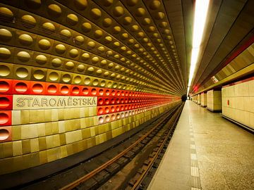Metrostation in Praag sur