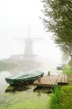 Nebel in Bleskensgraaf von Jan Koppelaar