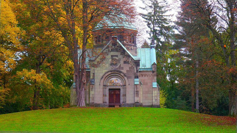 Herfst in Ohlsdorf van Peter Norden