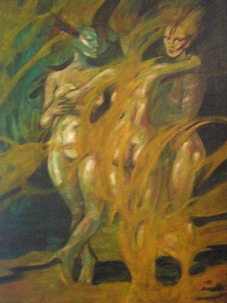 3 graces on fire. von Astrid Schell