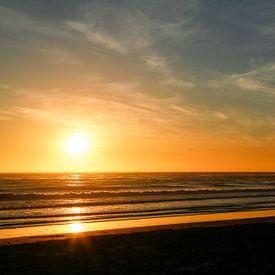 Zondondergang bij Big Sur van Marit Lindberg