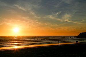 Coucher de soleil à Big Sur sur Marit Lindberg