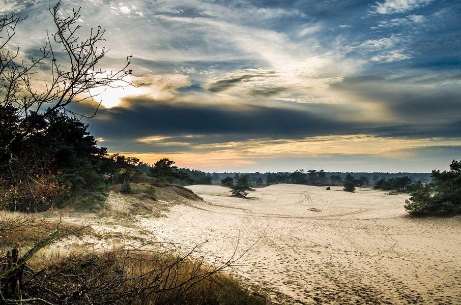 Zonsondergang bij Hulshorsterzand