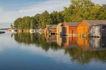 Boothuizen aan het Plaue-meer van Katrin May