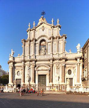 Kathedraal van Santa Agata, Catania, Piazza del Duomo, Catania, Sicilië, Italië, Europa van Torsten Krüger