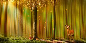 Herten in de herfst bos