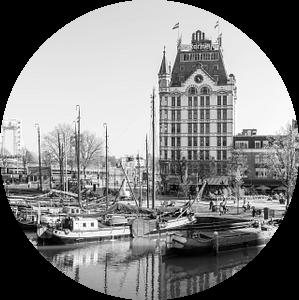 Het Witte Huis in de Oude Haven in Rotterdam van MS Fotografie | Marc van der Stelt