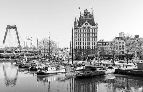 La Maison Blanche dans le Vieux Port de Rotterdam sur MS Fotografie | Marc van der Stelt