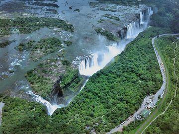 Victoria watervallen in Afrika van Gert-Jan Siesling