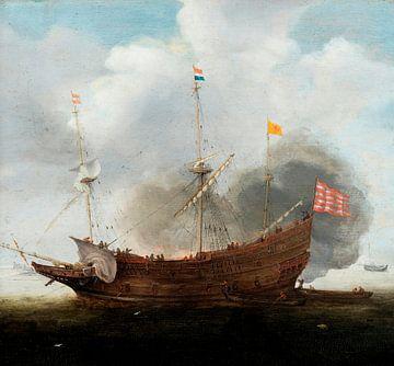 A Man o' War, Hendrick Cornelisz. Vroom