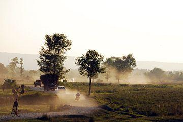 Vervoer in Nepal van Onne Kierkels