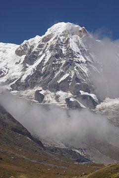 Top Annapurna gebergte Nepal von Marilyn Bakker