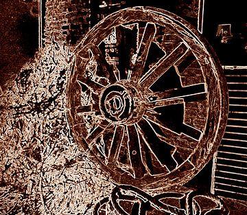 Oud wiel van MG Capture