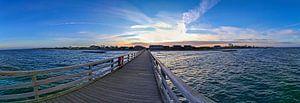 Panorama van een zonsondergang aan de Oostzee