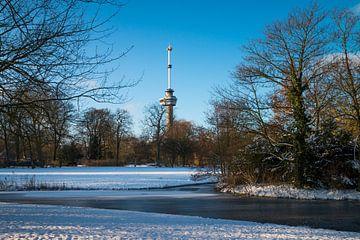 Der Euromast - Winter 9 von Nuance Beeld